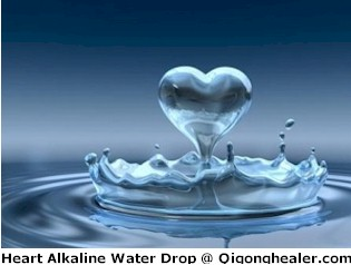 Heart Alkaline Water Drop at Qigonghealer.com