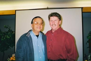 Ricardo B. Serrano and Alton Kamadon at 2003 Level 5  workshop