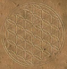 Flower of Life carved onOsiris temple wall at Abydos, Egypt