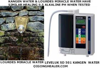 Kangen Water and Lourdes Miracle water have similar healing 9.5 alkaline pH when tested